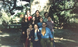 Saso family under the Saratoga Oak Tree in the 70's