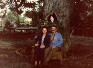 Virginia and Louie under the Saratoga Oak Tree