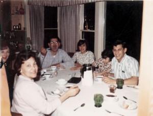 Dinner in Saratoga- Bobs home