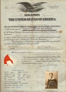 Maria-Sciarini-US-Passport-Issued-In-Bern-Switzerland-Jan-31-1920-To-travel-via-france-to-the-US